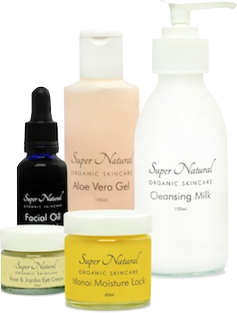 Super Natural Organic Skincare product selection