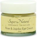 super natural organic skincare rose and jojoba eye cream